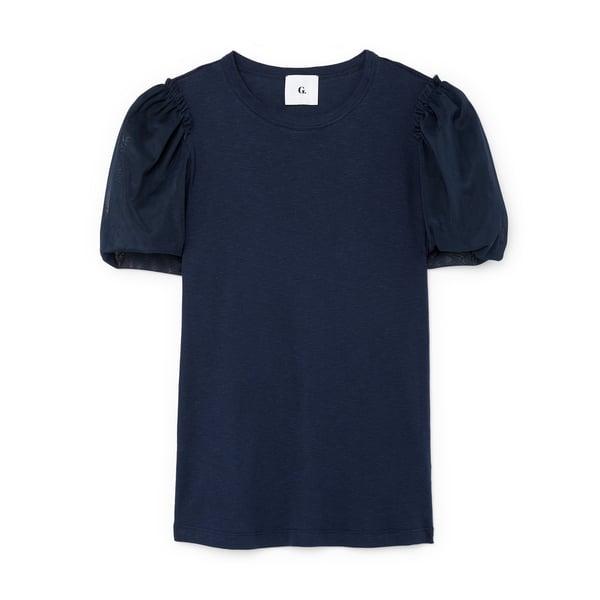 G. Label Glatzer Tulle Puff-Sleeve Shirt