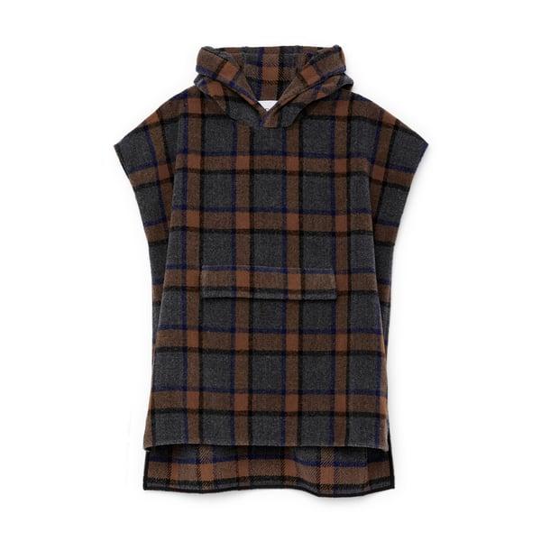 G. Label Taryn Plaid Pullover Poncho
