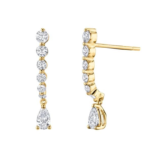 Anita Ko Cascading Earrings with Pear Diamond Drop