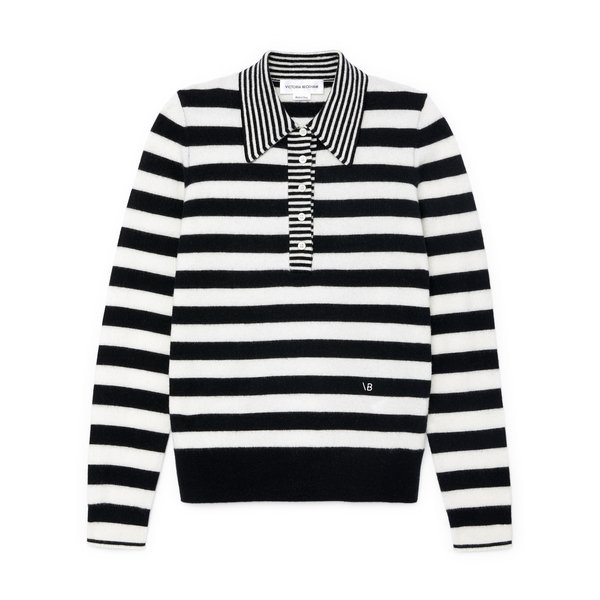 Victoria Beckham Striped Polo