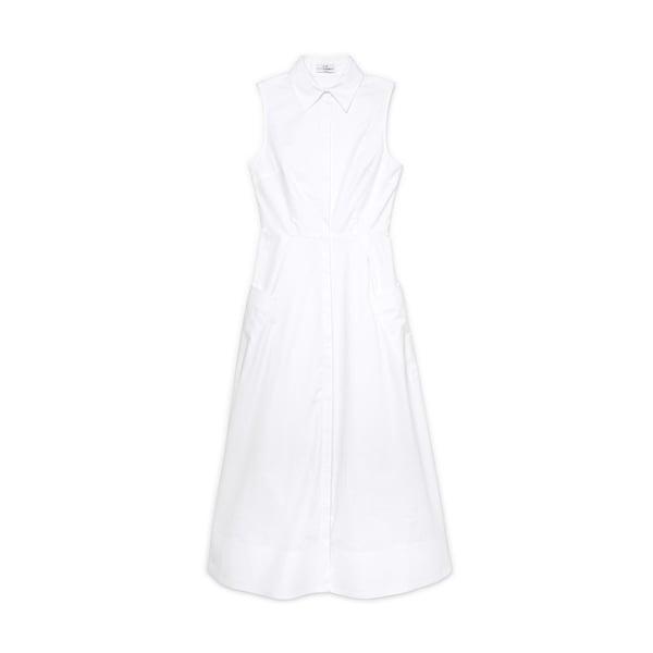 Co Sleeveless Button-Down Dress