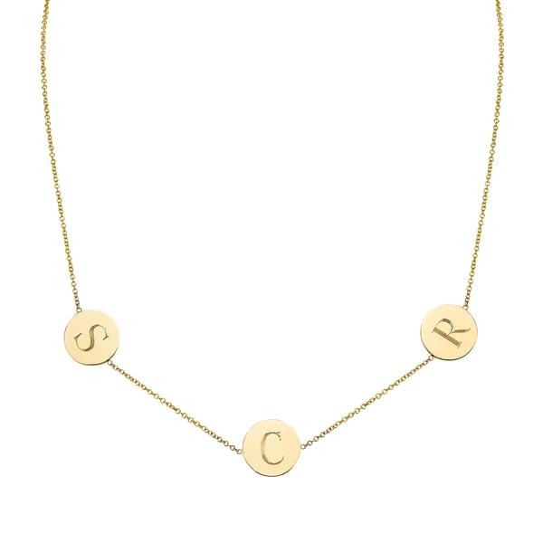 Sarah Chloe Cara 3 Initial Necklace