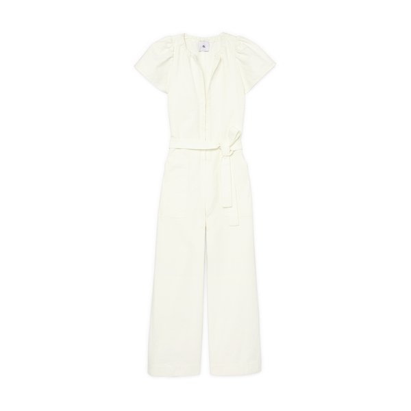 G. Label Cady Puff-Sleeve Jumpsuit