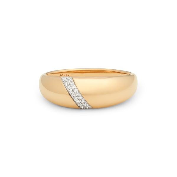 goop x Mejuri Pavé Diamond Dôme Ring