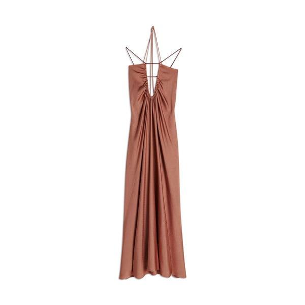 Victoria Beckham Ruched-Neck Dress