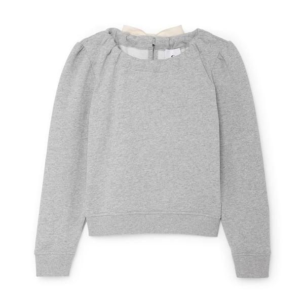 G. Label Steiner Tie-Neck Sweatshirt
