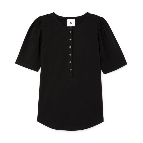 G. Label Karmanos Organic Cotton Puff-Sleeve Henley