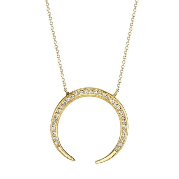 Gabriela Artigas Pavé Eternal Pendant Necklace