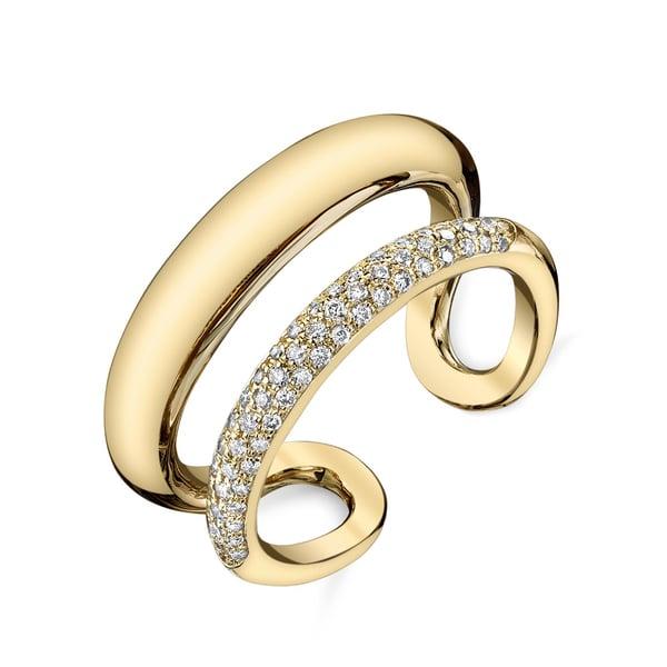 Gabriela Artigas Pavé Twin Tusk Ring