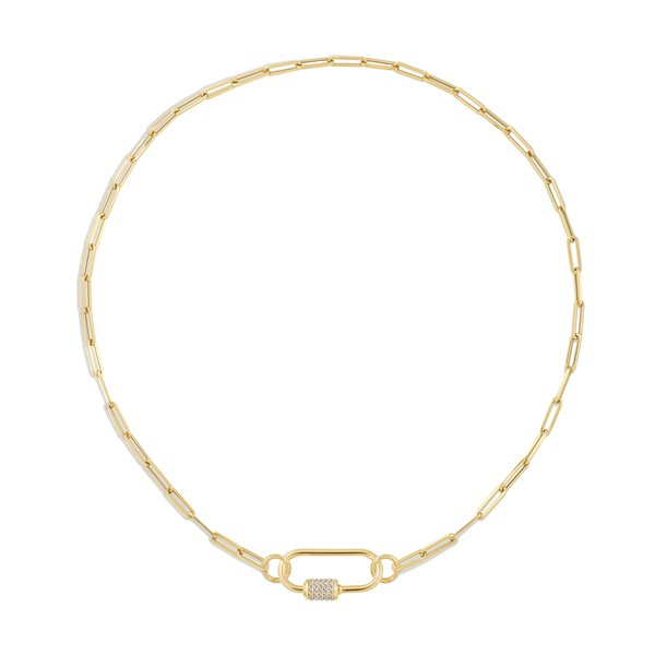 AS29 Chain-Link Necklace with Oval Carabiner