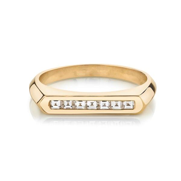 Lizzie Mandler Carre Diamond Flat-Top Ring