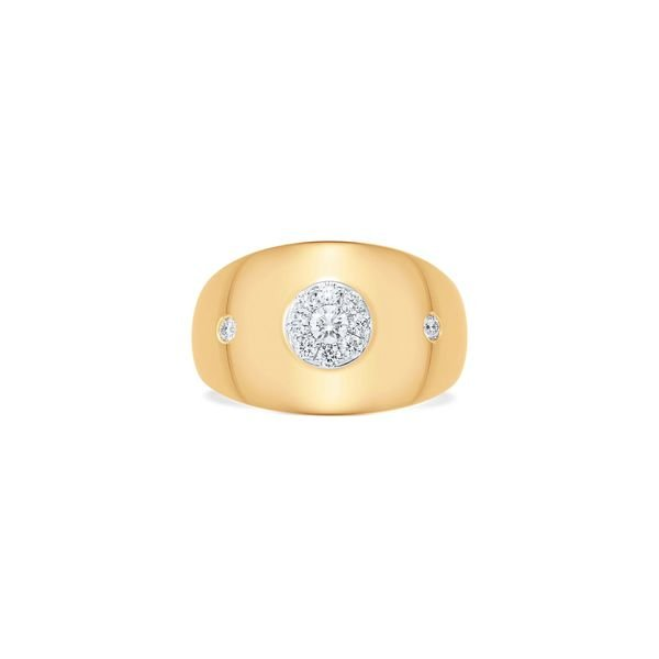 Sara Weinstock Aurora Illusion Round Signet Ring
