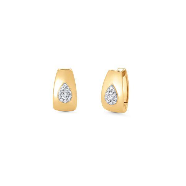 Sara Weinstock Aurora Illusion Pear Huggie Earrings