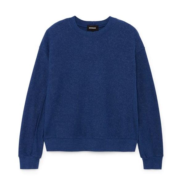 Monrow Reversed Sweatshirt with Rib