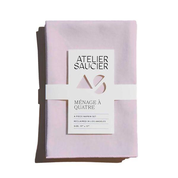Atelier Saucier Blush Linen Napkins, Set of 4