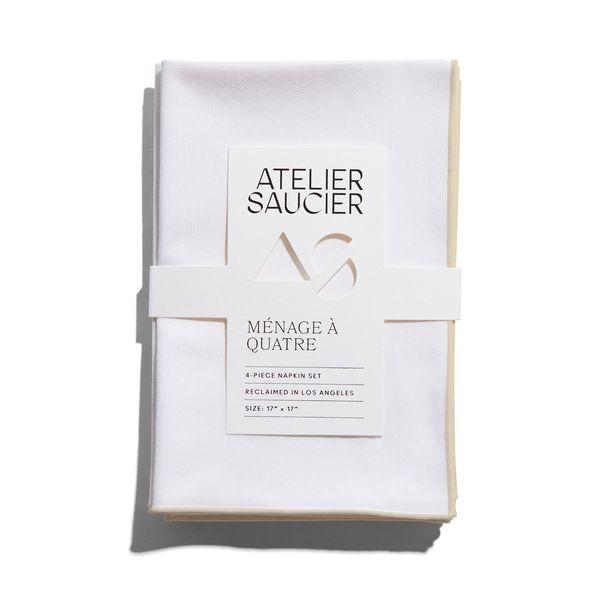 Atelier Saucier Ivory Twill Napkins, Set of 4