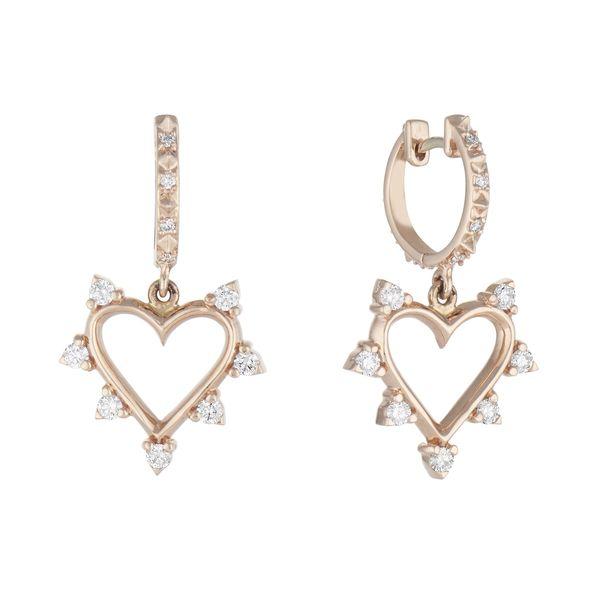 Marlo Laz Open Heart Spiked Earrings