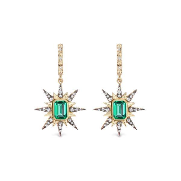 Marlo Laz Genevieve Starburst Earrings
