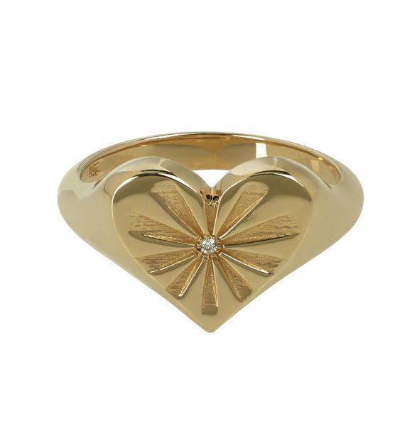 Marlo Laz Love Token Pinkie Ring