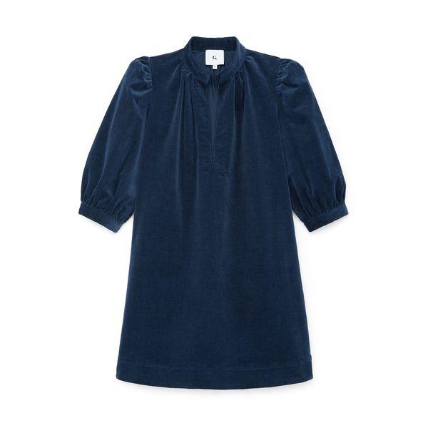 G. Label Alessandra Puff-Sleeve Corduroy Dress