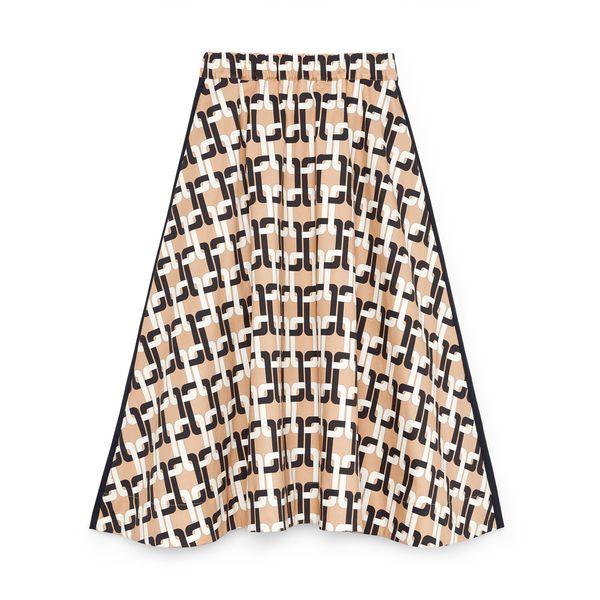G. Label Evie Midlength Printed Skirt