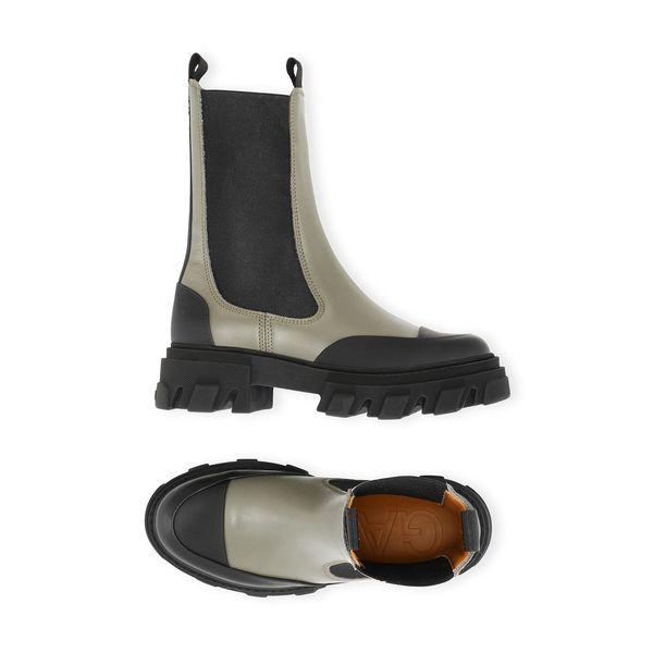 Ganni Calf Leather Mid Boot