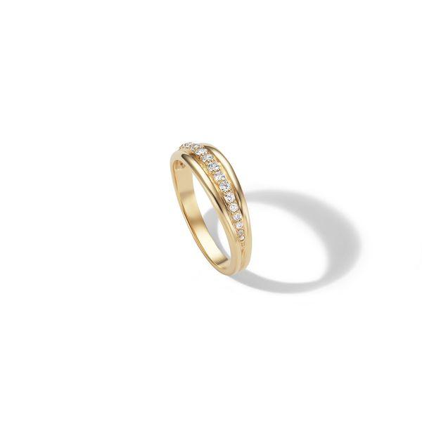 Sophie Ratner Pavé Ripple Ring