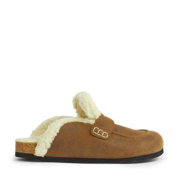 JW Anderson Leather Shearling Loafers