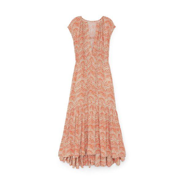 Proenza Schouler White Label Geometric Zebra Sleeveless Dress