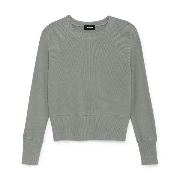 Monrow Brushed Thermal Raglan Sweatshirt
