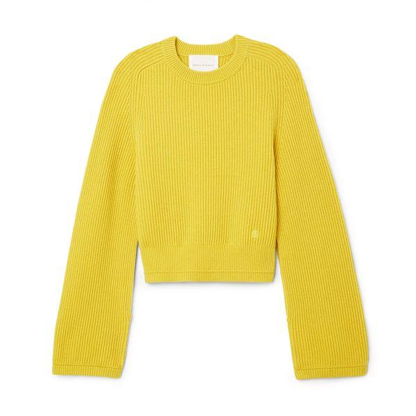 Maria McManus Fisherman Rib Crop Sweater