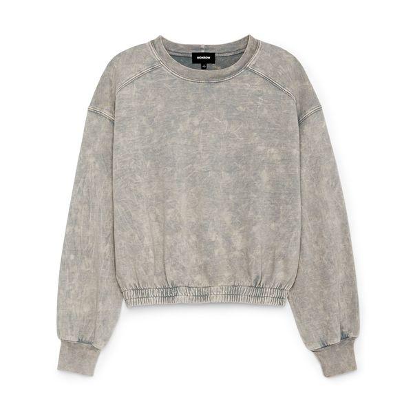 Monrow Seamed Stonewashed Sweatshirt