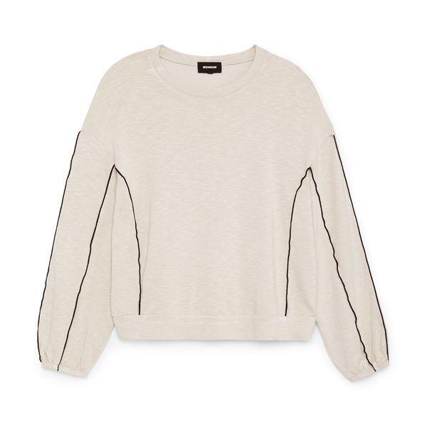 Monrow Sweatshirt with Silky Piping