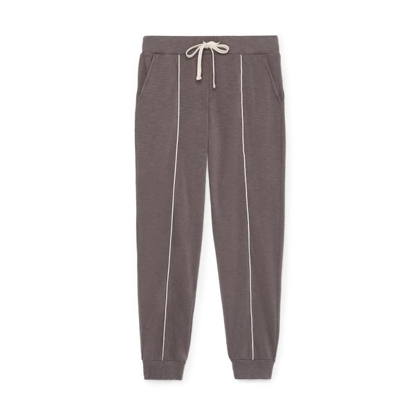 Monrow Skinny Sweats with Silky Piping