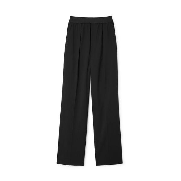 Maria McManus High-Waisted Wide-Leg Pull-On Pants