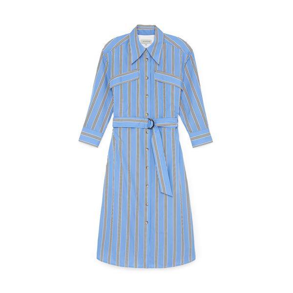 Lee Mathews Boston Stripe Shirtdress