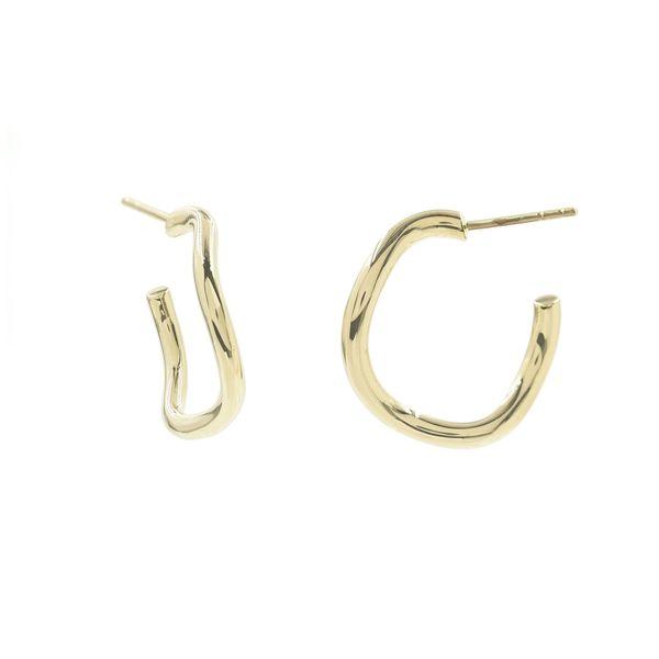 Bondeye Jewelry Golden Wave Hoops