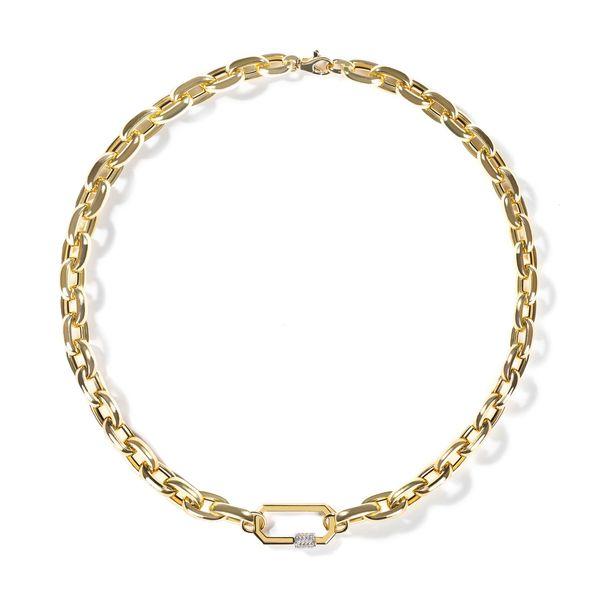 AS29 Medium Diamond Lock on Chunky Links Chain