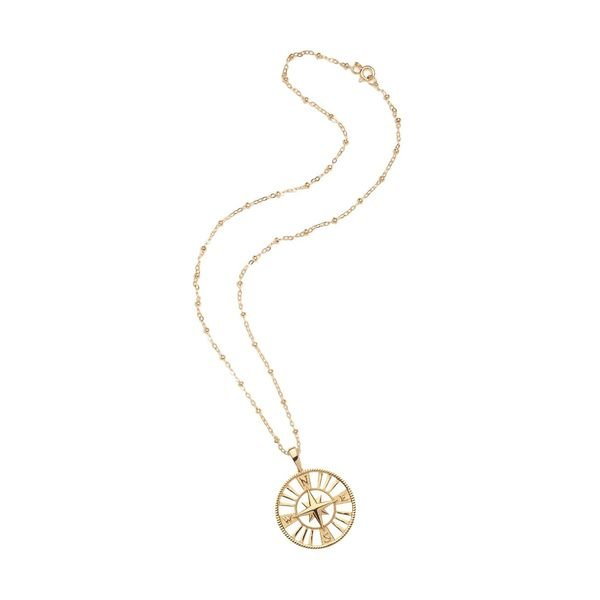 Jane Win Forever Cutout Coin Pendant Necklace