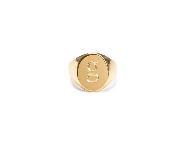 18kt gold lana pinky ring