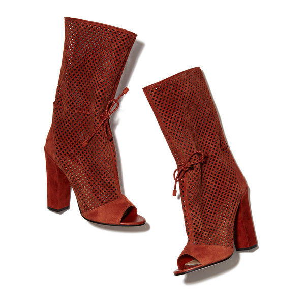 Amirah Perforated Open Toe Boot