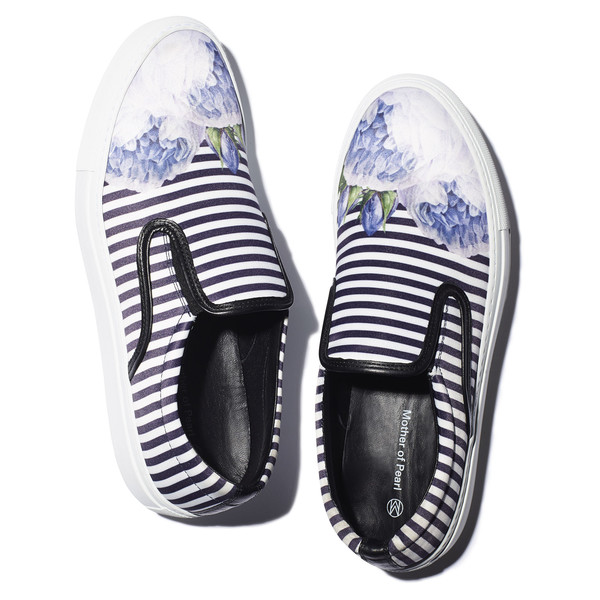 blue satin achilles sneakers