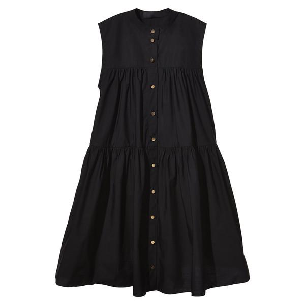 cotton poplin puff dress