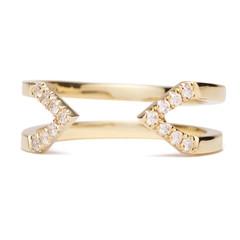 Dagger Ring With Diamonds