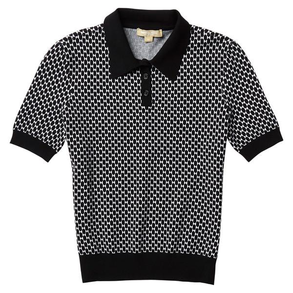 Diamond Jacquard Short Sleeve Polo