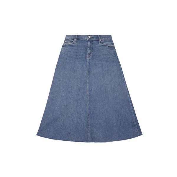 Double-Fray Circle Midi Skirt