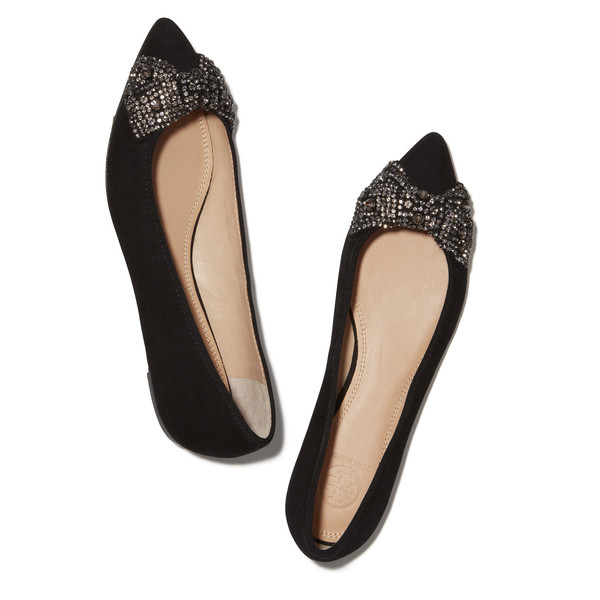 Drew Barrymore's Black Flats with Bow