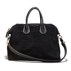 Drew Barrymore's Black Suede Shoulder Bag