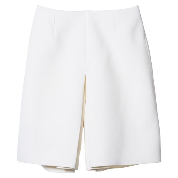 front pleat shorts