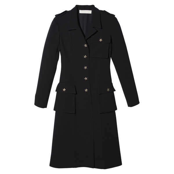 GP's Black Coat with Star Buttons